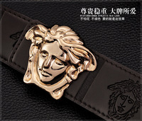New Men Strap Real Leather Genuine Leather Belt  Man Belts gold/Silver Alloy Pin Buckle 6color K47
