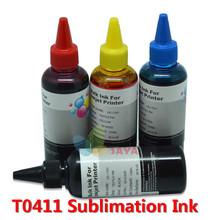 Hot 400MLSUBLIMATION INK for EPSON STYLUS C64 C66 C84 C86 CX3600 CX4600 CX6400 CX6600 printer taxtile HEAT TRANSFER ink T0411