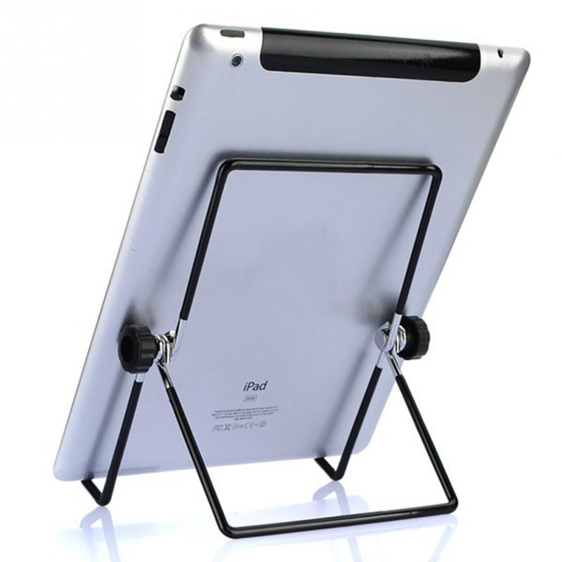 2016 Practical Adjustable Angle Stainless Steel Stand Holder Foldable Flip Rack for iPad/Tablet/Motorola Xoom/BlackBerry Play(China (Mainland))