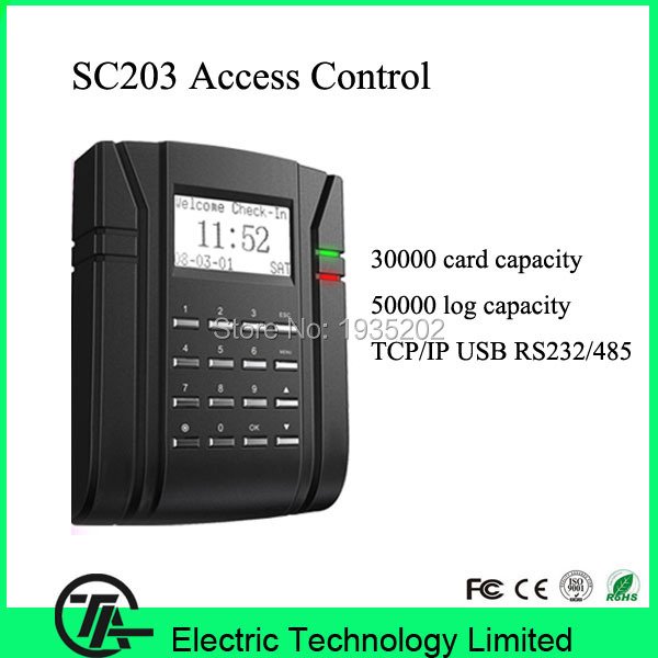 SC203 ZEM500 optical sensor 13.56MHZ IC card access control time attendance communication with TCP/IP, RS232/485, USB-Host(China (Mainland))
