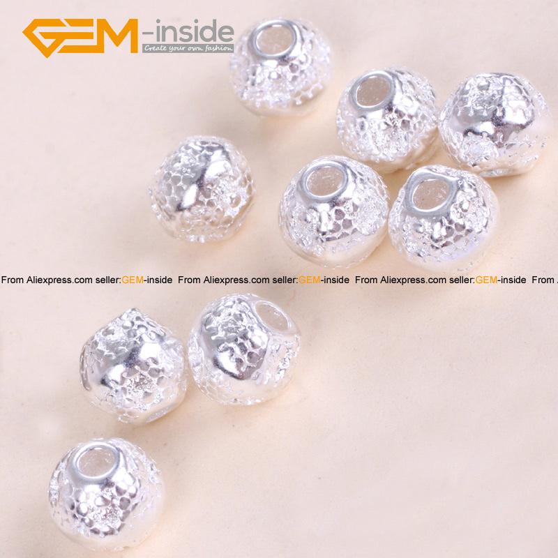 Craft Spacer Beads Bright Tibetan Silver Jewelry Making 6mm Findings 2 Gem-inside - GEM-inside store