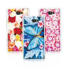 Buy Floral Art Painted Flower Phone Case Sony Xperia M2 S50h Dual D2302 D2305 D2303 D2306 Case Cover Sony M2+Free Stylus Pen for $1.21 in AliExpress store