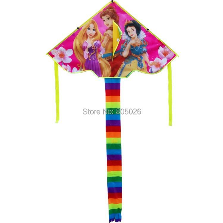 Free shipping high quality three princess kites 10pcs/lot ripstop nylon fabric kite children kites sky lantern for sale(China (Mainland))
