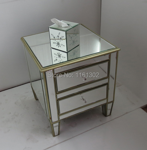 online get cheap mirrored side table alibaba group. Black Bedroom Furniture Sets. Home Design Ideas