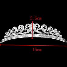 European Bride Crystal Bridal Tiara Crown Wedding Hair Accessories Hair Jewelry Wedding Jewelry Wedding Accessories HG002