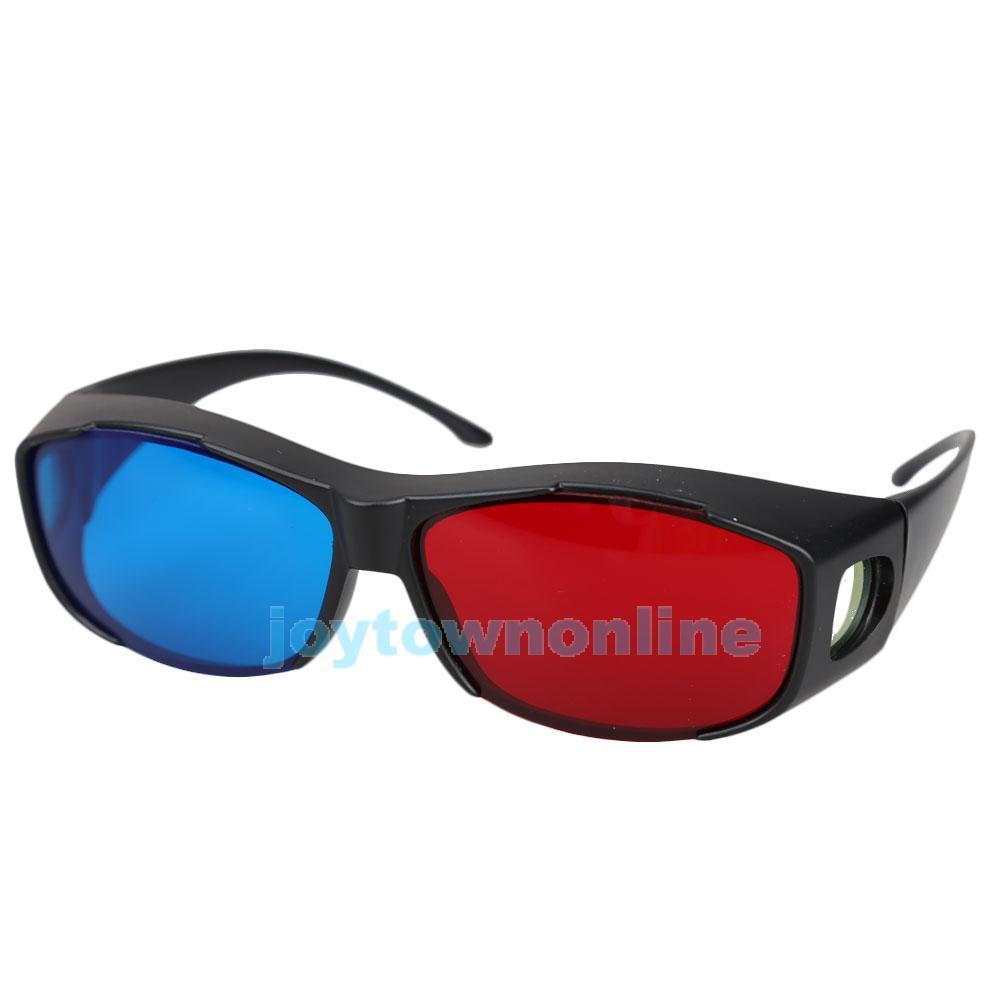 Гаджет  Red Blue Anaglyph Framed 3D Vision Glasses for Plasma TV Movie Dimensional #1JT None Бытовая электроника