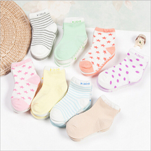 ( 5 pairs=1 lot )Colorful cute short socks combed cotton cute baby socks newborn breathable socks kids girl and boy socks