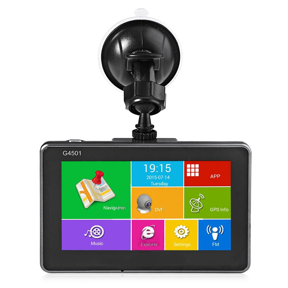 4.5 Inch Android Tablet GPS Navigation Bluetooth WiFi FM Player Quad Core HD 1080P IPS Screen Car DVR Built-in Lithium Battery(China (Mainland))