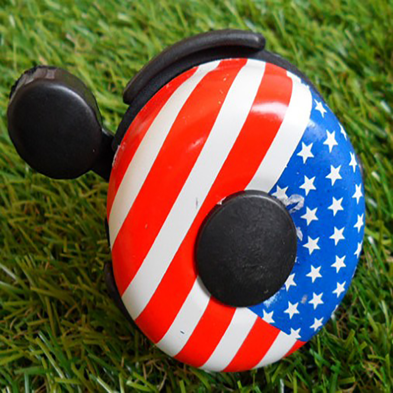 Hot Sale New Arrival Designer American Flag Metal Ring Handlebar Bell Sound Aluminum Bicycle Horns For Mountain Bike Wholesale(China (Mainland))