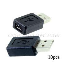 10 шт. / lot USB 2.0 A вилочная часть вилка микро B 5 булавка женское M / F адаптер конвертер коннектор