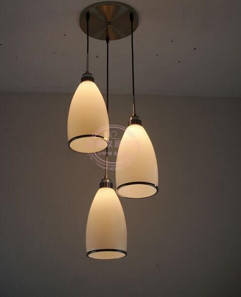 2015 new Modern dining lamp Restaurant glass lamp Single white head PENDANT LIGHTS Household places PENDANT LAMP XXZPS5 zzp(China (Mainland))