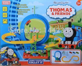 """Big 16"""" Electric Music 3 Trains THOMAS Friends Roller Coster Complete Track Set Engine Family fun(China (Mainland))"""
