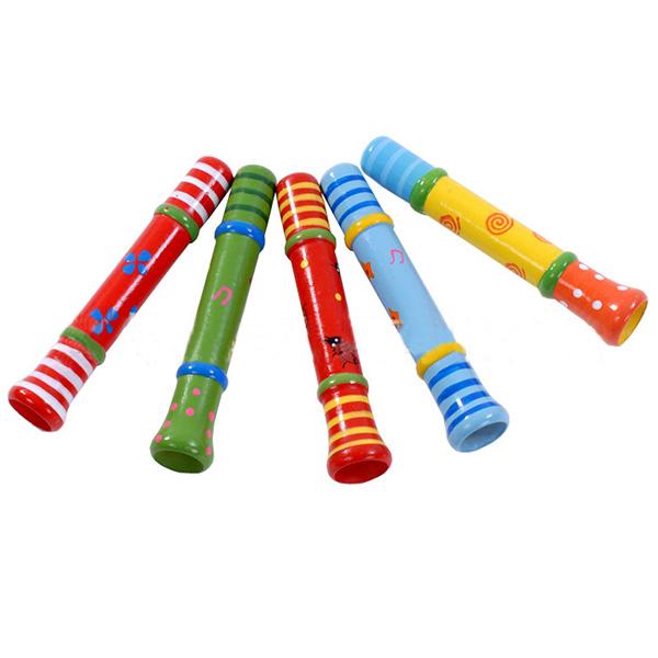 Baby Kids Portable Wooden Whistle Cute Cartoon Animal Music Instrument Toys Fun 1pcs(China (Mainland))