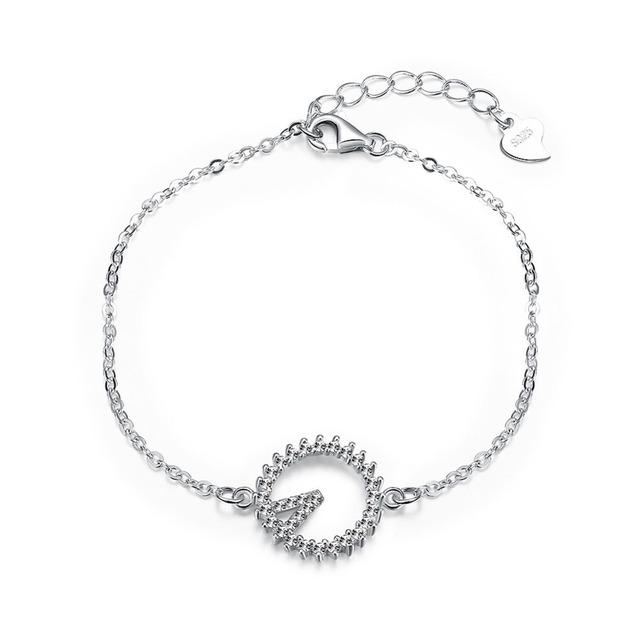 Новый горячие продаж в исходном стерлингового серебра серебристо-ювелирные проложить CZ камень солнца мерцание шарм браслеты , совместимой с DIY ювелирных