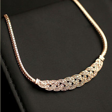 Buy Match-Right New 2015 Hot Pendant Necklace Women Trendy Jewelry Snake Chain Statement Necklaces Rhinestone Pendants for $1.67 in AliExpress store