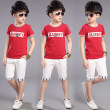 5 children's clothing 6 male child summer set 2016 9 child short-sleeve twinset 8 15 10 boy