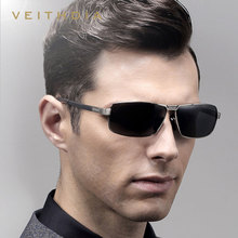 Veithdia Brand Mens Square Frame Sunglasses Outdoor Casual Driving Fishing Eyeglasses Polarized Lens Sports Eyewear Male Glasses - YIGEMU Store store