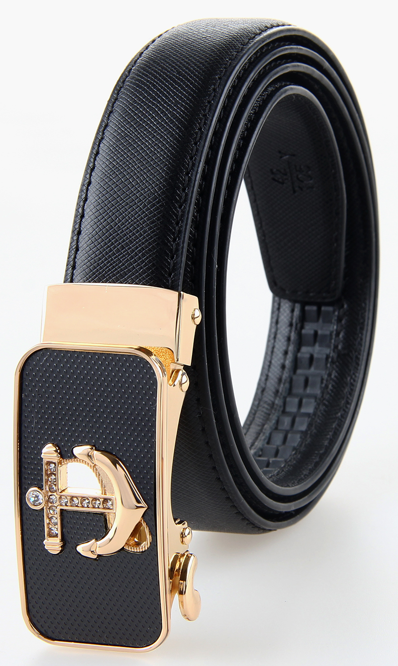Formal Business Belt For Woman Ture Leahter Ladies Belt Automatic Metal Anchor Buckle Young Girls Waist Belt Double Stitching(China (Mainland))