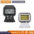 2pcs x 7inch 50W LED Auto Wireless Search Spot Light Remote Control Worklight Lamp 12V Led