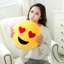 Emoji plush Smiley Cushion Pillow Sofa Stuffed Plush Toy Doll Funny Cute emoji pillow Decorative Cushion Home Lovely pillow(China (Mainland))