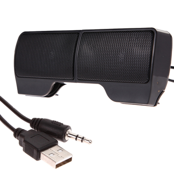 High Quality Portable Clipon USB Stereo Speakers Built-in Volume Control Soundbar for Notebook Laptop Mp3 Phone PC Free Shipping
