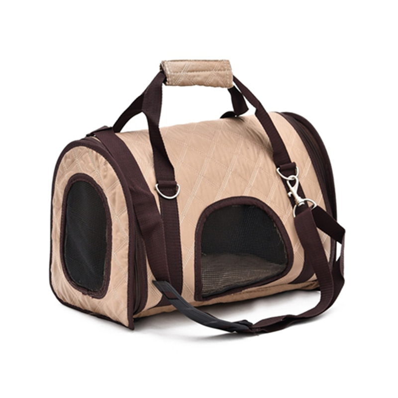 Free Shipping Leisure Pet Bag Dog Cat Traveling Bag Easy Take Out Dog Cat Carrier Bag Foldable Portable Pet Bag High Quality(China (Mainland))