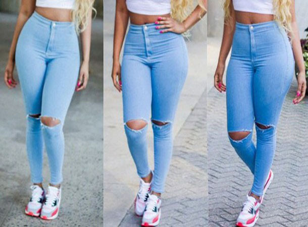 цена Женские джинсы Jeans new brand 2015 Jeans women онлайн в 2017 году