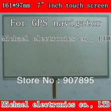 164X97mm 7inch 4 Wire Resistive Touch Screen Panel /Digitizer GPS navigator MP4 Tablet PC MID Noting size and color(China (Mainland))