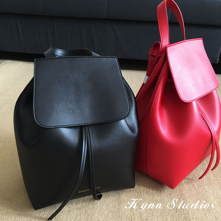 2015 Famous Brand Mansur Gavriel ,women real leather backpack,lady genuine leather backpack, leather schoolbag.free shipping(China (Mainland))