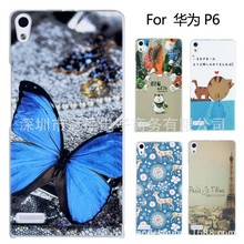 Case for Huawei Ascend P6 P6S Painting Drawing 2 Cover Free shipping mobile phone bags & cases Brand New Arrive 2014 accessories(China (Mainland))