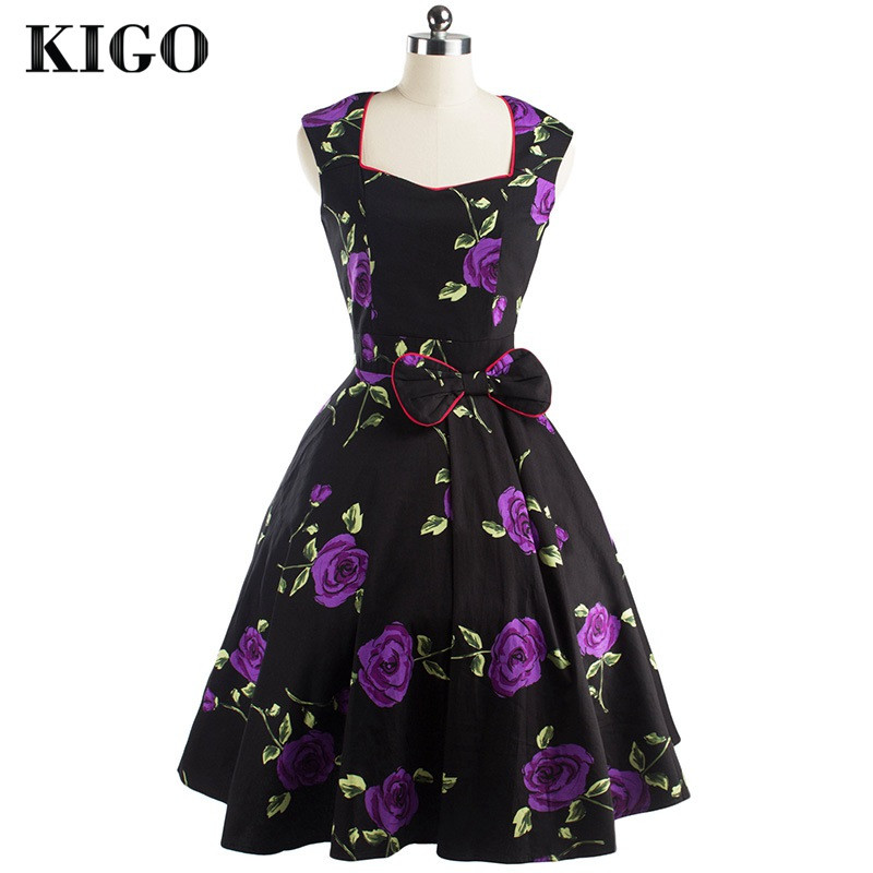 Detail Feedback Questions about KIGO Party Swing Dress Sleeveless ... e20f5a552f26