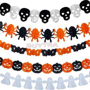 Achetez en gros guirlande en papier halloween en ligne - Fabriquer fantome halloween ...