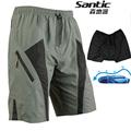 Santic Cycling Shorts Mens Culotte Ciclismo Mtb Downhill Jerseys Bike Short Pants Loose Cycling Clothing Baggy