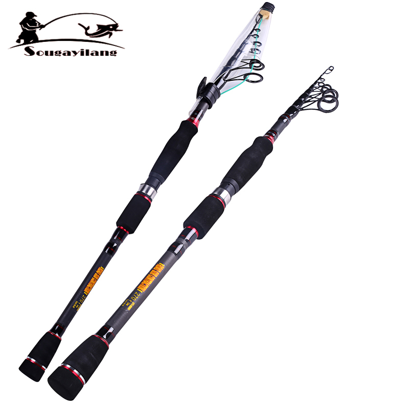 Hot sale 1 8 telescopic carbon fiber fishing rod boat for Fly fishing rods for sale