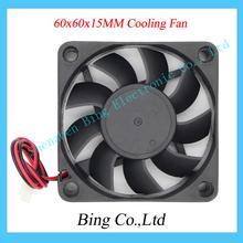 10pcs/lot 2 Wire 2 pin 12V 3D Printer Equipment Brushless DC Cooling Fan 6CM 60MM 60x60x15MM for 3d printer
