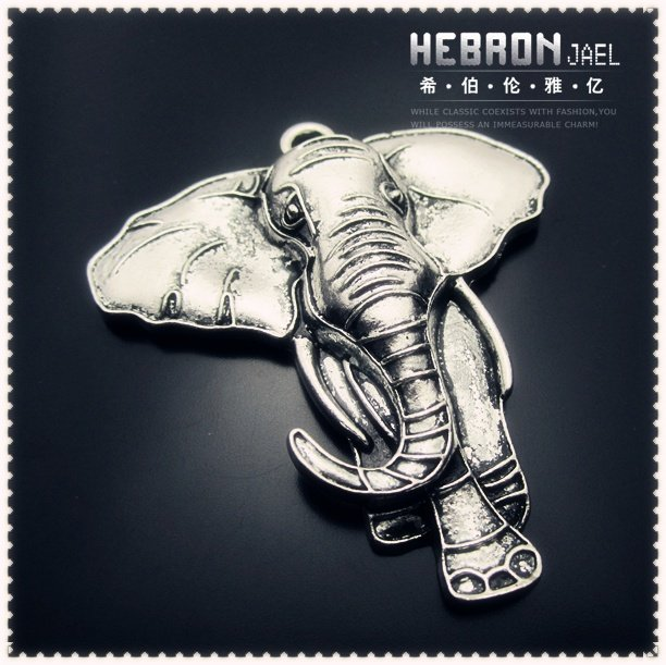 55*72 mm Free ship Tibetan Silver (10pcs) Zinc Alloy Jewelry Accessories Classic Elephant Charm(3906#)
