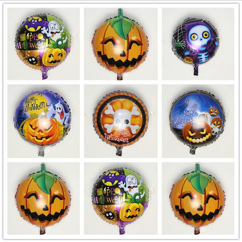 Hot new arrival halloween foil balloons pumpkin foil for Balloon decoration equipment