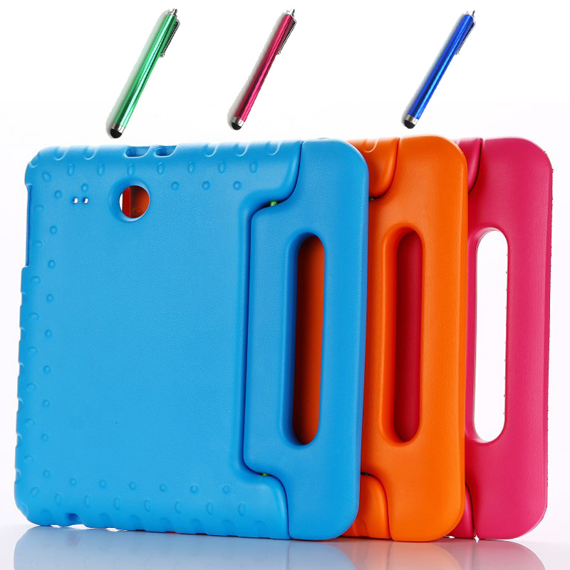 New HOT! Luxury Children EVA foam silicone cover case for Samsung galaxy Tab E 9.6 T560 T561 Child shockproof Tablet case+pen<br><br>Aliexpress
