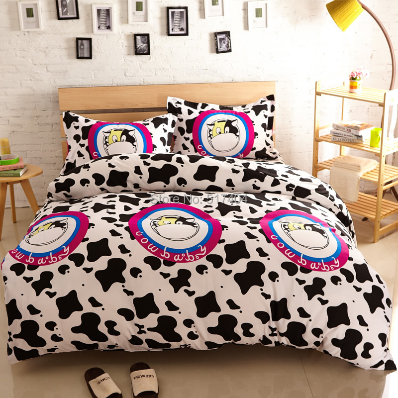 Cow Print Bed Sheets
