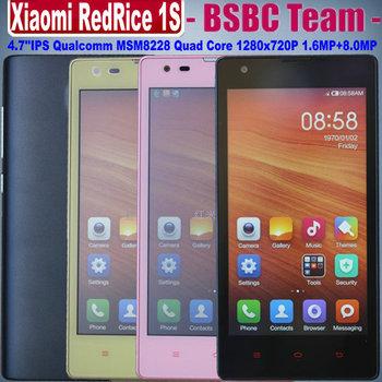 Xiaomi Redmi Red Rice 1S Hongmi 1S 4.7'' IPS Dual SIM Qualcomm MSM8228 MSM8628 Quad Core 1G RAM 8G ROM 1.6MP+8.0MP V5 OS4.3