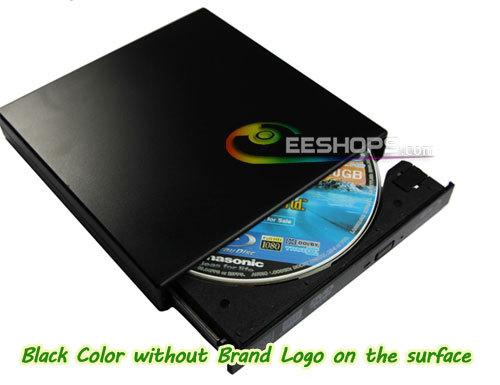 Portable Slim USB 2.0 External Blu-ray Drive 6X 3D Bluray Player 8X DVD RW RAM Burner Optical Drive for Panasonic UJ-141 UJ141(Hong Kong)