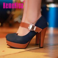 Женщина туфли на каблуках мода платье свободного покроя леди туфли на высоком каблуке женщин сексуальная P2583 размер 34 — 39