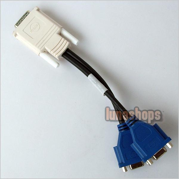 DMS 59 DVI-I Y Splitter to 15 PIN VGA CABLE LN000445(China (Mainland))