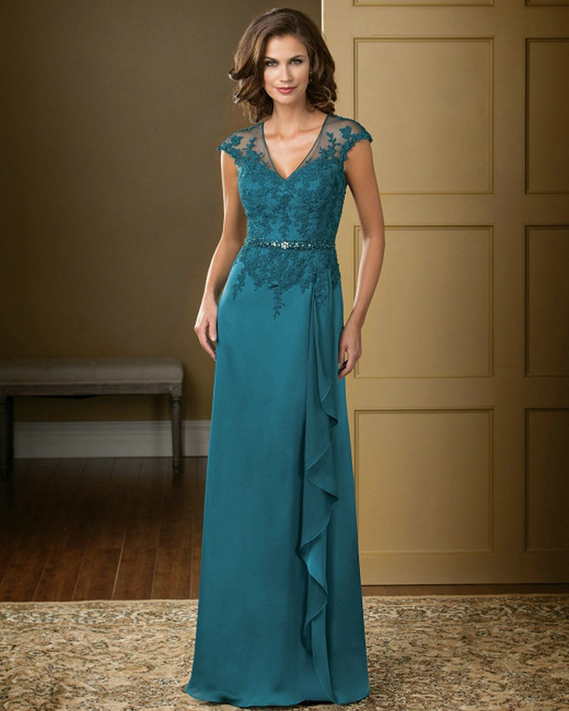 Teal Colored Mother Of The Bride Dresses