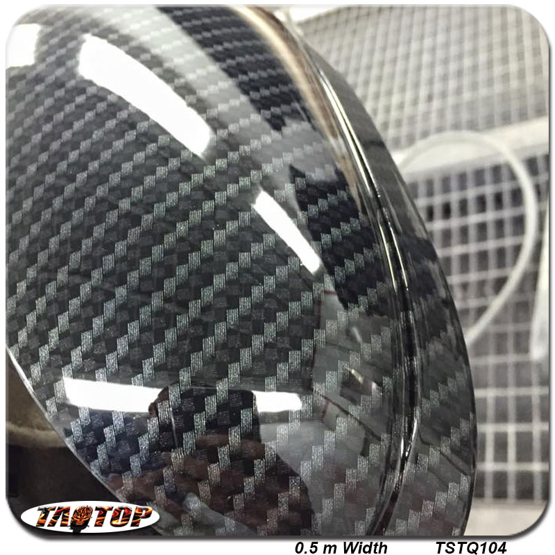 TAOTOP TSTQ104 New 0.5m *10m Carbon Fiber Pattern PVA hydro graphics film Water Transfer Printing Film(China (Mainland))