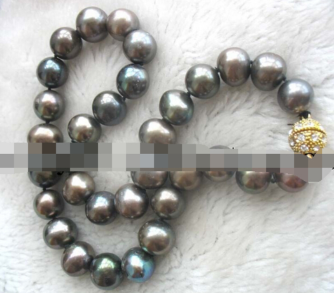 free shupping 08149 wholesale freshwater pearl near round 12-14mm necklace 17 nature GOOD QUALITY<br><br>Aliexpress