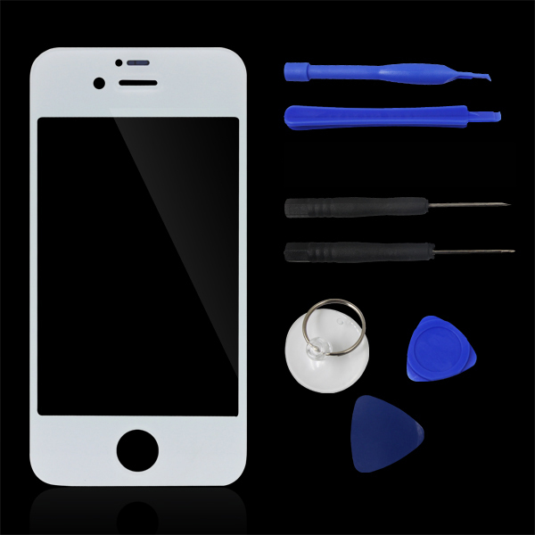 Hot Front Screen Outer Glass Touch Screen Digitizer Panel LENS For Repair For Apple iphone 4 4G 4S + Free Tools Kits CGB002(China (Mainland))