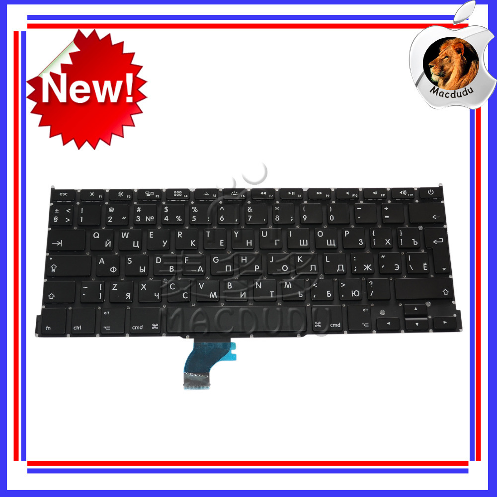 "New For MacBook Pro Retina 13"" A1502 2013 ME864LL/A ME866LL/A RU Russian Keyboard *Verified Supplier*(China (Mainland))"