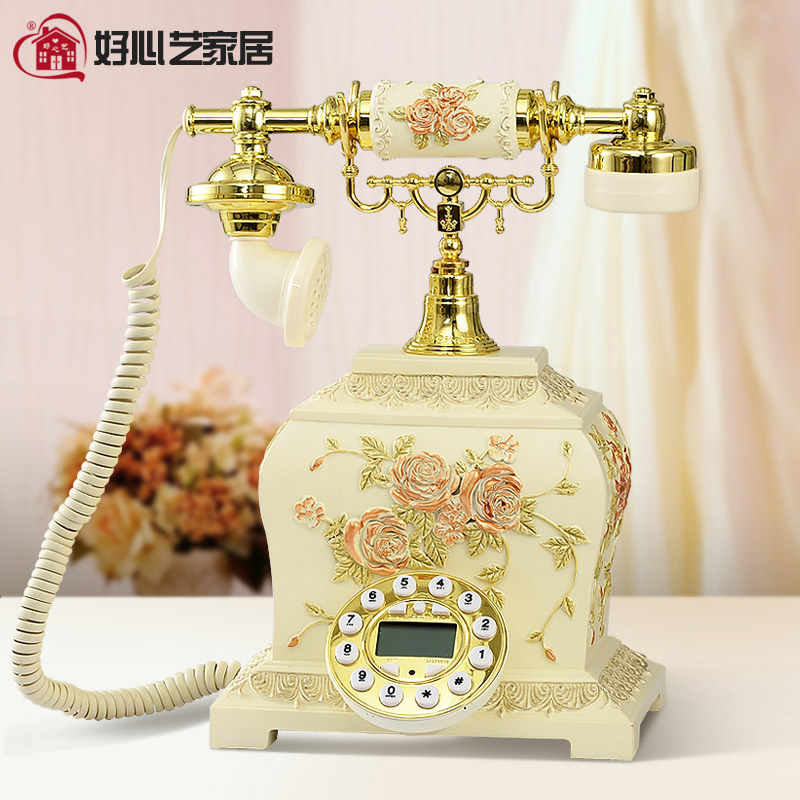 Hoshine 2015 New China Home Corded Dect Telephone Decorative Handset Phone Caller ID Button Landline Telefono No Battery Needed(China (Mainland))
