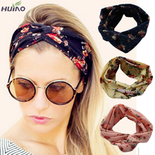 10colors Fashion Retro Women Elastic Turban Twisted Knotted Headband Ethnic Floral Wide Stretch Girl Yoga Hair Accessories 2016(China (Mainland))